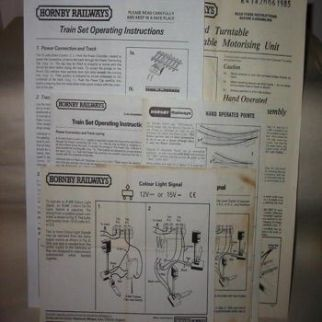 Hornby Railways Operation & Maintenance Instructions
